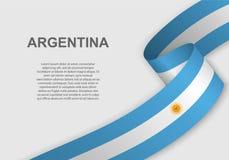 TARGET516_1_ Flaga Szablon dla dnia niepodległości ilustracja wektor
