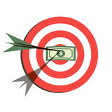 Target Flat Icon Design. Aim with Money Stock Photos