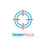 Target focus abstract logo Stock Photo