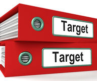 Target Folders Show Business Goals And Objectives Royalty Free Stock Image