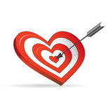 Target in the form of heart Royalty Free Stock Image