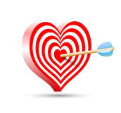 Target in the form of heart and arrow Royalty Free Stock Images