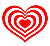 Target in the form of red hearts Stock Image
