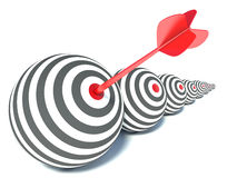 Target in the form of a sphere and arrow Royalty Free Stock Images