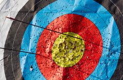 Target Full of Holes Stock Photo