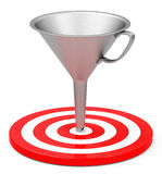 Target with funnel Royalty Free Stock Images