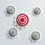 Target Gears PiAd Royalty Free Stock Images