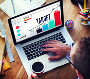 Target Goal Aspiration Aim Vision Success Concept Stock Image