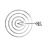Target goal with dart isolated icon Royalty Free Stock Images