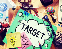 Target Goal Vision Inspiration Mission Concept Stock Photo