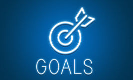 Target Goals Aim Aspiration Focus Vision Graphic Concept Royalty Free Stock Image