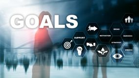 Target Goals Expectations Achievement Graphic Concept. Business development to success and growing growth. royalty free stock image