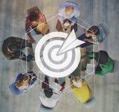 Target Goals Expectations Achievement Graphic Concept. People Having Target Goals Achievement Stock Image