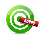 Target good bonus illustration design Royalty Free Stock Photos