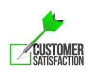 Target good customer service concept illustration. Design over white Stock Photos