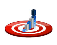 Target good profits illustration design Stock Images