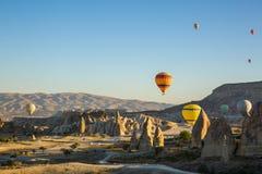 target405_1_ gorącego wschód słońca lotniczy balon zdjęcia stock