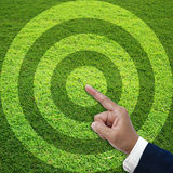 Target grass field Royalty Free Stock Photography