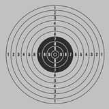 Target with gray vector background Stock Photography