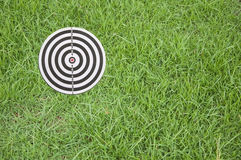 Target on green grass Stock Image