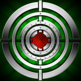 Target - Green Red and Metal Background Stock Image