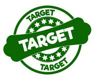 TARGET green stamp. Stock Images