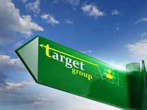 Target group Royalty Free Stock Images