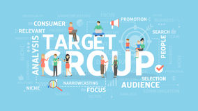 Target group illustration. Royalty Free Stock Photos