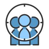 Target group LineColor illustration stock illustration