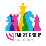 TARGET GROUP sign. Vector illustration Royalty Free Stock Photo