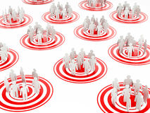 Target groups Stock Image