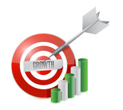 Target growth. illustration design Stock Photo