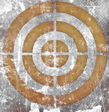 Target on grunge background Royalty Free Stock Images