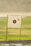 Target at gun range Royalty Free Stock Photo