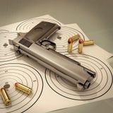 Target and gun stock illustration