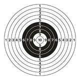 Target Gun Vector. Classic Paper Shooting Target Illustration. For Sport, Hunters, Military, Police, Illustration. Sport Target Blank Vector. Classic Paper Stock Images