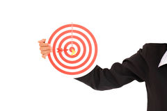 Target with a hand Royalty Free Stock Photography
