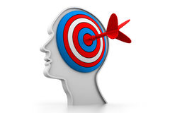 Target on head Royalty Free Stock Image