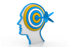 Target on head Royalty Free Stock Images