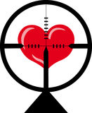 The target is heart Stock Photos