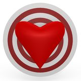The target is the heart! A 3d image Royalty Free Stock Photos