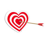 Target heart icon art web. Amorousness concept. Vector illustration Royalty Free Stock Image