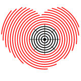 Target on heart Royalty Free Stock Images