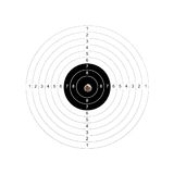 Target. Hitting target. Business and sports concept royalty free stock image