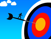 Target. Hitting the target and getting results Stock Photos