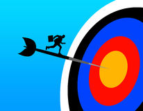 Target. Hitting target and getting results Royalty Free Stock Photo
