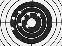 Target with holes. Sport background Stock Images