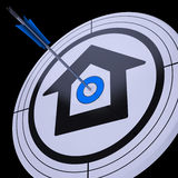Target House Shows Achievement In Residential Property Stock Photo
