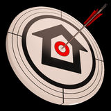 Target House Shows Success In Real Estate Royalty Free Stock Images