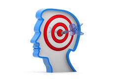 Target on human head. 3d illustration of Target on human head Stock Photos
